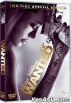 Wanted (2008) (DVD) (2-Disc Special Edition) (Hong Kong Version)
