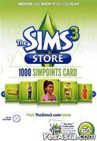 The Sims 3 Store - 1000 Simpoints Card (亚洲英文版)