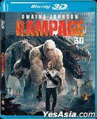 Rampage (2018) (Blu-ray) (2D + 3D) (Hong Kong Version)