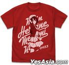 Saekano: How to Raise a Boring Girlfriend Fine : Megumi Kato Vintage T-shirt (Red) (Size:L)