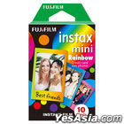 Fujifilm Instax Mini Film (Rainbow) (10 Pcs per Pack)