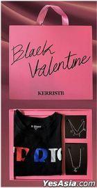 Kerrist - Black Valentine Set Pink Box (Black T-Shirt Size S + Bracelet + Necklace)
