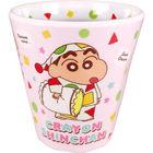 蜡笔小新 塑胶杯 (睡衣图案/粉红色)