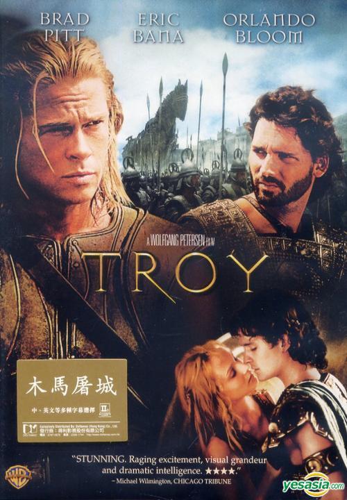 Yesasia Troy 2004 Dvd Hong Kong Version Dvd Brad Pitt Eric Bana Warner Hk Western World Movies Videos Free Shipping North America Site