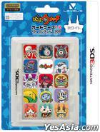 3DS 妖怪手表 Card Case 12 (白色) (日本版)