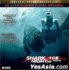 Shark Night (2011) (2-DVD) (2D + 3D) (Hong Kong Version)