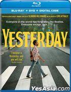 Yesterday (2019) (Blu-ray + DVD + Digital Code) (US Version)
