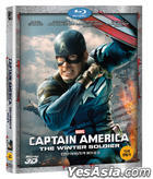 Captain America: The Winter Soldier (2014) (Blu-ray) (3D) (Korea Version)