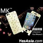 Mokin Floral Pattern Protective Film Set for Apple iPhone 5