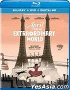 April and the Extraordinary World (2015) (Blu-ray + DVD + Digital HD) (US Version)