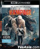 Rampage (2018) (Blu-ray) (4K Ultra HD + Blu-ray) (Hong Kong Version)