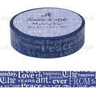 Aimez le style Masking Tape Regular Font Layers Navy
