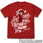 Saekano: How to Raise a Boring Girlfriend Fine : Megumi Kato Vintage T-shirt (Red) (Size:XL)
