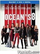 Ocean's 8 (2018) (Blu-ray + DVD + Digital) (US Version)