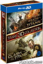 Clash of the Titan (Blu-ray) (2-Disc) (2D+3D) + Wrath of the Titan (Blu-ray) (2-Disc) (2D+3D) (Box Set) (Korea Version)