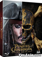 Pirates of the Caribbean: Dead Men Tell No Tales (2D + 3D Blu-ray) (2-Disc) (Steelbook Combo Limited Edition) (Korea Version)
