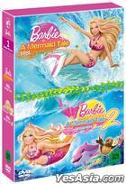 Barbie: Mermaid Tale 1 + 2 (DVD) (Box Set) (Korea Version)
