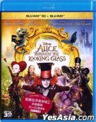 Alice Through the Looking Glass (2016) (Blu-ray) (2D + 3D) (Hong Kong Version)