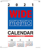 Wide Memo 2021 Calendar (Japan Version)