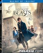 Fantastic Beasts and Where to Find Them (2016) (Blu-ray) (2D + 3D) (Hong Kong Version)