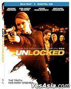 Unlocked (2017) (Blu-ray + Digital HD) (US Version)