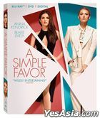 A Simple Favor (2018) (Blu-ray + DVD + Digital) (US Version)