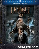 The Hobbit: The Battle of the Five Armies (2014) (Blu-ray) (2D + 3D) (5-Disc Extended Edition) (Hong Kong Version)