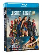 Justice League + Wonder Woman Double Pack (2D + 3D Blu-ray) (4-Disc) (Limited Edition) (Korea Version)