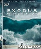 Exodus: Gods and Kings (2014) (Blu-ray) (3D) (3-Disc Edition) (Hong Kong Version)