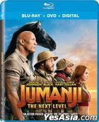 Jumanji: The Next Level (2019) (Blu-ray + DVD + Digital) (US Version)