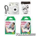 Fujifilm Cheki Instax Mini 50S Camera Mickey Mouse Version with Instax Mini Film (10 per pack) Bundle
