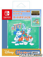 Nintendo Switch Card Case Pocket 24 (Mickey & Friends) (Japan Version)