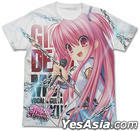 Angel Beats!-1st beat- : Yui Full Graphic T-Shirt (White) (Size:L)