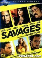 Savages (2012) (DVD) (Taiwan Version)
