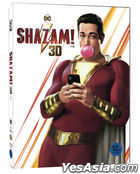 Shazam! (2D + 3D Blu-ray) (2-Disc) (Outcase + Character Card Limited Edition) (Korea Version)