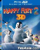 Happy Feet 2 (2011) (Blu-ray) (2D + 3D) (2-Disc Lenticular) (Hong Kong Version)