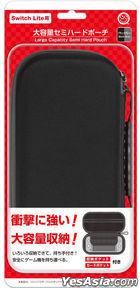 Nintendo Switch Lite Semi Hard Pouch L (Black / Grey) (日本版)