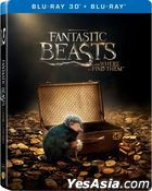 Fantastic Beasts and Where to Find Them (2016) (Blu-ray) (2D + 3D Limited Edition) (Steelbook) (Hong Kong Version)