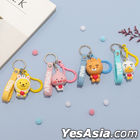 Kakao Friends Initial Silicone Key Ring (Tube)