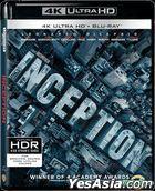 Inception (2010) (4K Ultra HD + 2 Blu-ray) (3-Disc Edition) (Hong Kong Version)