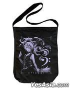 VOCALOID : v flower Shoulder Tote Bag (Black)