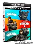 How to Train Your Dragon 3-Movie Collection (4K Ultra HD + Blu-ray) (6-Disc Edtion) (Hong Kong Version)