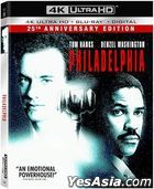 Philadelphia (1993) (4K Ultra HD + Blu-ray + Digital) (Taiwan  Version)