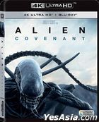 Alien: Covenant (2017) (4K Ultra HD + Blu-ray) (Hong Kong Version)