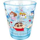 蠟筆小新 透明塑膠杯 (藍色)
