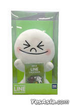 LINE CHARACTER Plush Toy with Calendar - Moon