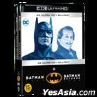 Batman & Batman Returns Double Pack (4K Ultra HD + Blu-ray) (4-Disc) (Korea Version)