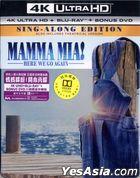 Mamma Mia! Here We Go Again (2018) (4K Ultra HD + Blu-ray + DVD) (Steelbook) (Hong Kong Version)