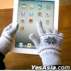 Smart Phone Woolen Gloves ( Woman / Gray )
