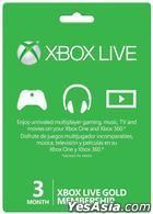 Xbox LIVE 3 Month Gold Membership (美國版)